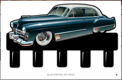 """BLUE  PONTIAC""  KEY  RACK"