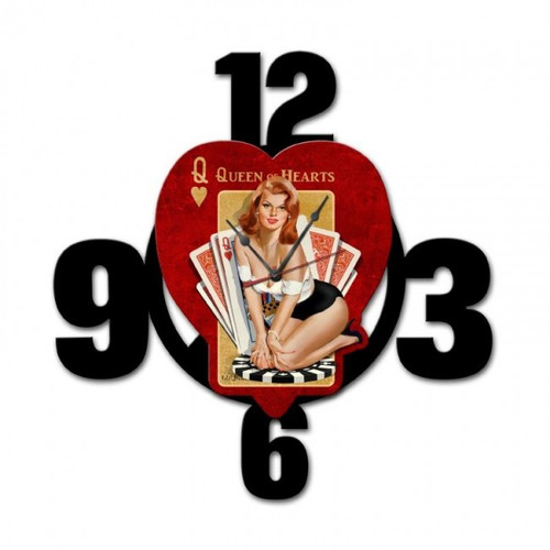 """Queen  Of  Hearts"" Layered Clock"