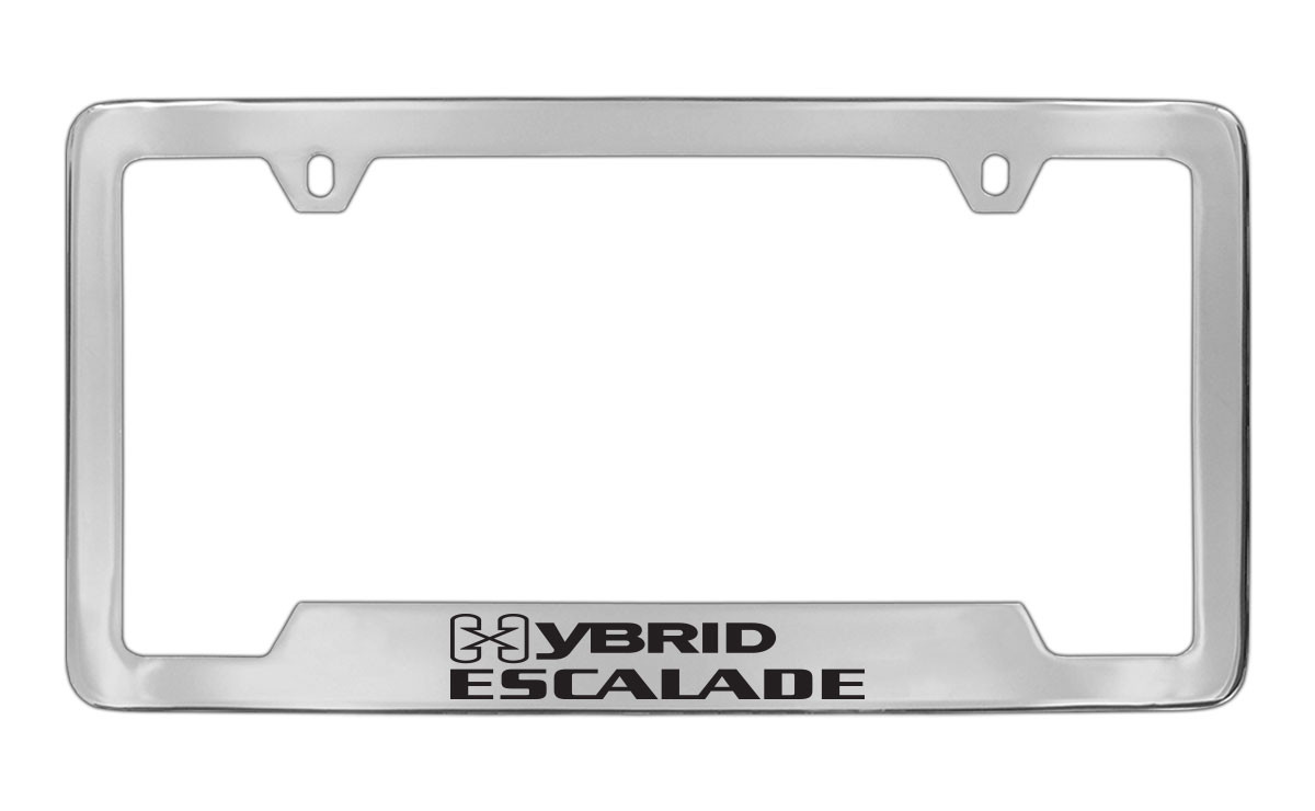Cadillac Hybrid Escalade Chrome Plated Metal Bottom Engraved License ...