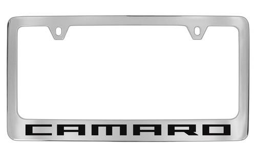 Chevrolet Camaro Chrome Plated Brass License Plate Frame with Black ...