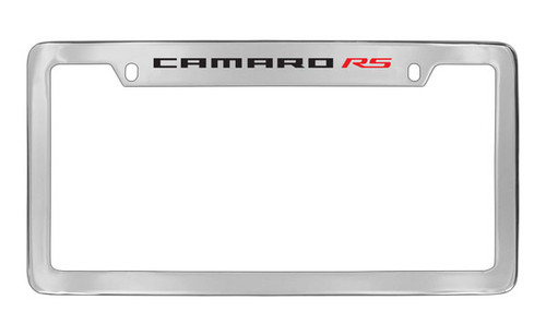 Chevrolet Camaro RS Top Engraved Chrome Plated Brass License Plate ...