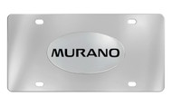 Nissan Murano Chrome Plated Solid Brass Emblem Attached To a Stainless Steel Plate