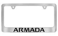 Nissan Armada Official Chrome License Plate Frame Tag Holder