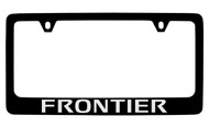 Nissan Frontier Black Coated Metal License Plate Frame Holder