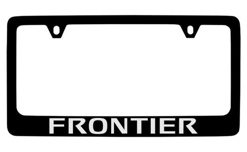 Nissan Frontier Black Coated Metal License Plate Frame Holder