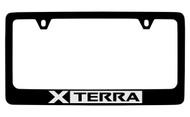 Nissan Xterra Black Coated Metal License Plate Frame Holder