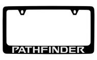 Nissan Pathfinder Black Coated Metal License Plate Frame Holder