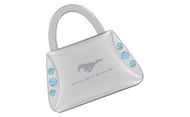 Mustang Purse Shape Keychain Embellished with Swarovski Crystals (FOKCYP-B300-E)