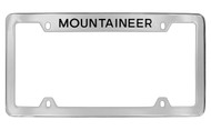 Mercury Mountaineer Top Engraved Chrome Plated Solid Brass License Plate Frame with Black Imprint