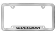 Mercury Marauder Bottom Engraved Chrome Plated Solid Brass License Plate Frame with Black Imprint