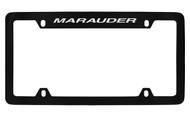 Mercury Marauder Top Engraved Black Coated Zinc 4 Hole License Plate Frame with Silver Imprint