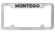 Mercury Montego Top Engraved Chrome Plated Solid Brass License Plate Frame with Black Imprint
