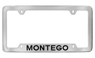 Mercury Montego Bottom Engraved Chrome Plated Solid Brass License Plate Frame with Black Imprint