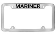 Mercury Mariner Top Engraved Chrome Plated Solid Brass License Plate Frame with Black Imprint