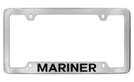 Mercury Mariner Bottom Engraved Chrome Plated Solid Brass License Plate Frame with Black Imprint