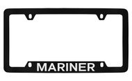 Mercury Mariner Bottom Engraved Black Coated Zinc License Plate Frame with Silver Imprint