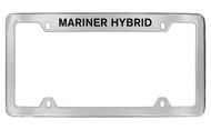Mercury Mariner Hybrid Top Engraved Chrome Plated Solid Brass License Plate Frame with Black Imprint