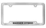 Mercury Mariner Hybrid Bottom Engraved Chrome Plated Solid Brass License Plate Frame with Black Imprint