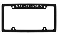 Mercury Mariner Hybrid Top Engraved Black Coated Zinc 4 Hole License Plate Frame with Silver Imprint