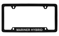 Mercury Mariner Hybrid Bottom Engraved Black Coated Zinc License Plate Frame with Silver Imprint