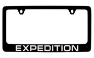 Ford Expedition Black Coated Zinc License Plate Frame Holder with Silver Imprint