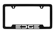 Ford Edge Bottom Engraved Black Coated Zinc License Plate Frame Holder with Silver Imprint