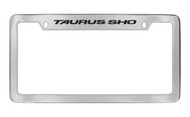 Ford Taurus Sho Top Engraved Chrome Plated Solid Brass License Plate Frame Holder with Black Imprint