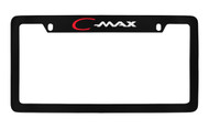 Ford C-Max Top Engraved Black Coated Zinc License Plate Frame Holder with Silver Imprint