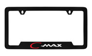 Ford C-Max Bottom Engraved Black Coated Zinc License Plate Frame Holder with Silver Imprint