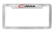 Ford C-Max Top Engraved Chrome Plated Solid Brass License Plate Frame Holder with Black Imprint