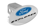 Ford Explorer with Logo Oval Trailer Hitch Cover Plug