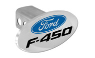 Ford F-450 with Logo Oval Trailer Hitch Cover Plug