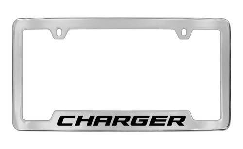 Dodge Charger Chrome Plated Solid Brass Bottom Engraved License ...