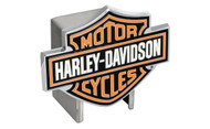 Harley-Davidson Hitch Cover 3 Color Harley-Davidson Bar & Shield Logo Emblem Plus Hitch Ball Post Components (HDHCB25)