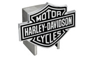 Harley-Davidson Hitch Cover Black Harley-Davidson Bar & Shield Logo Emblem Plus Hitch Ball Post Components (HDHCB14)