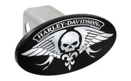 Harley-Davidson Trailer Hitch Cover Plug with 3D Decorative Emblem