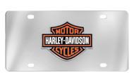 Harley-Davidson 3 Color Bar & Shield Emblem License Plate