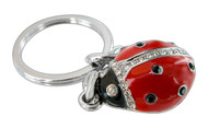 Lady Bug Key Chain with Crystals