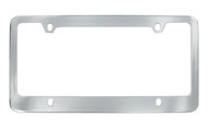 Chrome Plated Solid Brass License Plate Frame 4 Hole