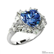 Ring Made with Swarovski Zirconia (RZ002-FB)