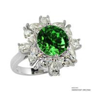 Ring Made with Swarovski Zirconia (RZ003-GR)