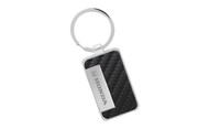 Honda Logo Carbon Fiber Vinyl Inlay Rectangle Key Chain