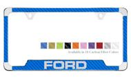 Ford License Plate Frame with Carbon Fiber Vinyl Insert