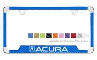 Acura License Plate Frame with Carbon Fiber Vinyl Insert