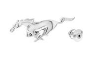FORD ZINC CHROME LAPEL PIN 3D MUSTANG HORSE (FODPD)