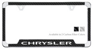 Chrysler License Plate Frame with Carbon Fiber Vinyl Insert