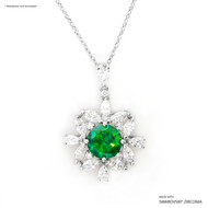 Green Bloom Pendant Made with Swarovski Zirconia