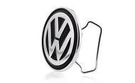 Volkswagen Logo Chrome Belt Buckle With Black Epoxy Paint Fill