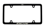 Ford Black Powder Coated Zinc License Plate Frame With Logo And Escape Imprint In White