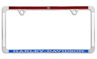 Harley-Davidson® License Plate Frame (HDLFCFT12-RWB)